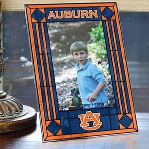Auburn Tigers College NCAA Art Glass Picture Frame